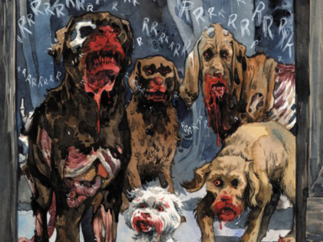 Lovingly rendered zombie canines!