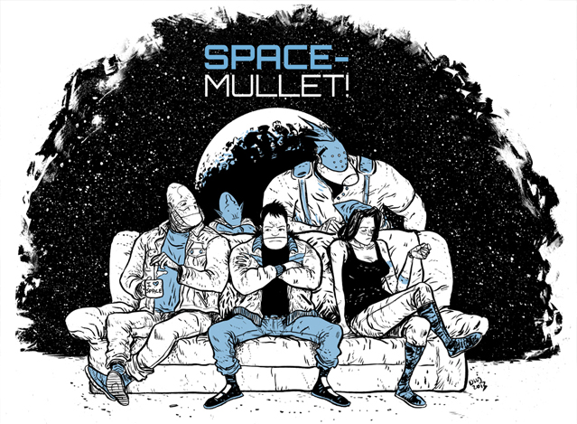 Travels through space, has a mullet