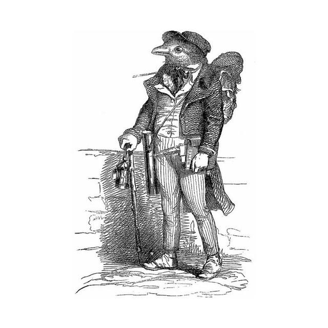 Caricature by J.J Grandville