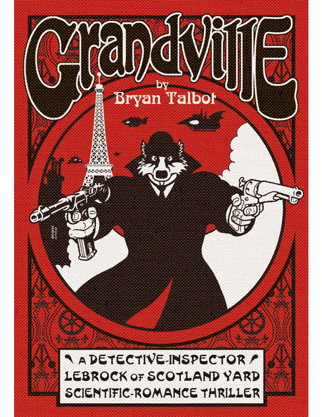 Grandville hardback cover complete with textured moiré effect
