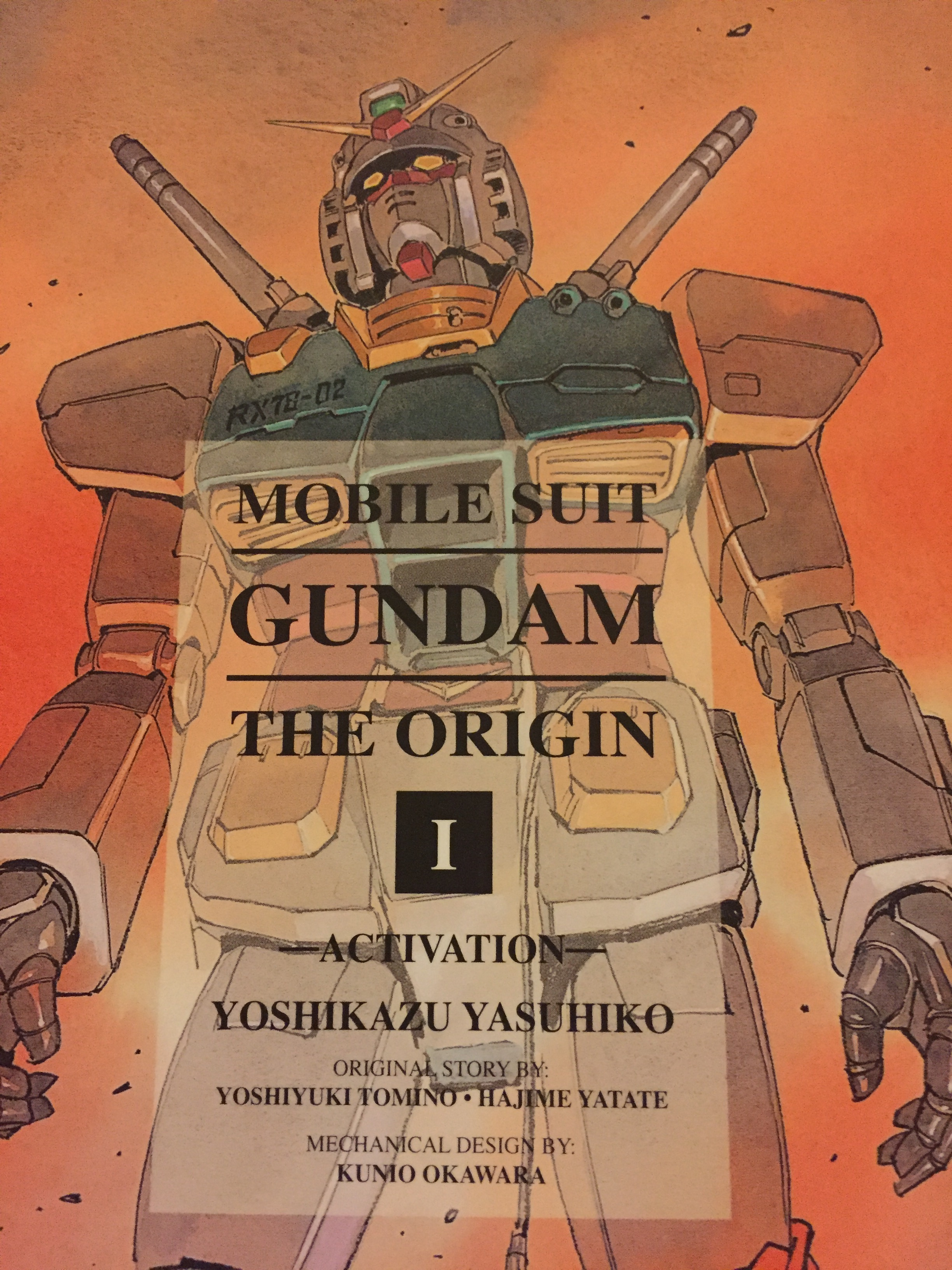 The cover to Mobile Suit Gundam Origin vol 1 Activation